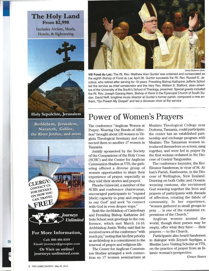 Living Church Article